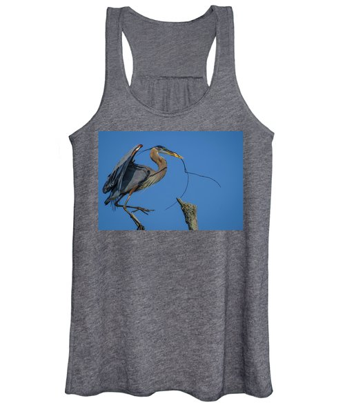 Great Blue Heron 4034 Women's Tank Top