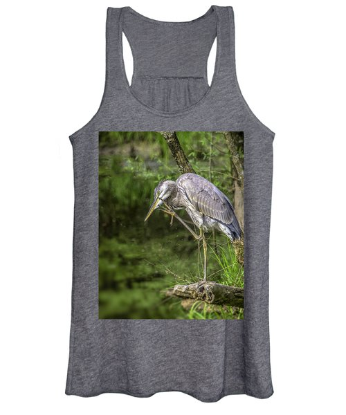 Great Blue Heron Itch Women's Tank Top