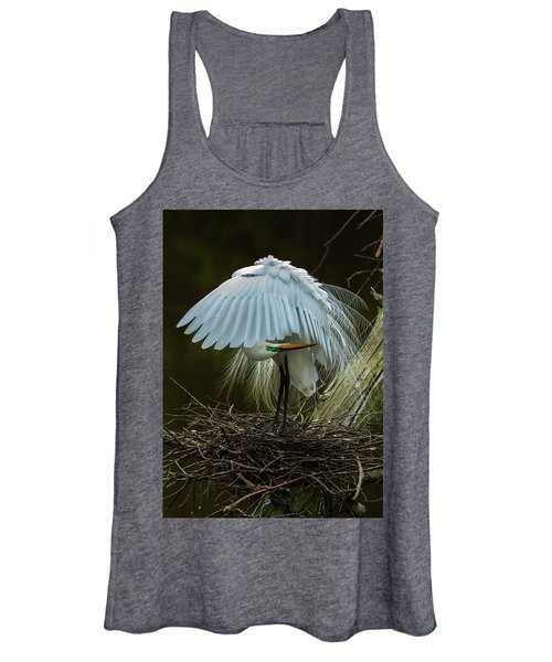 Great Egret Beauty Women's Tank Top