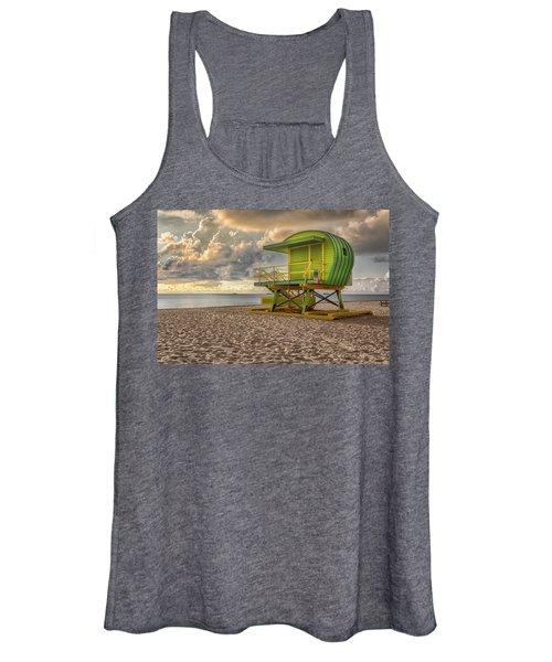 Green Lifeguard Stand Women's Tank Top