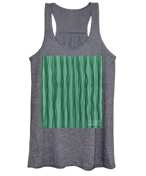 Green Stripes Women's Tank Top