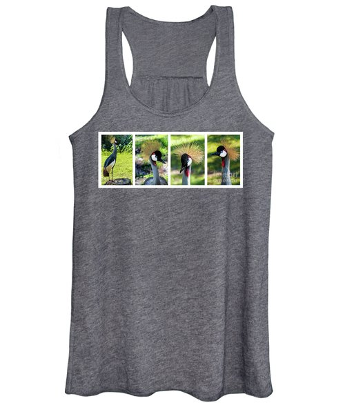 Grey Crowned Crane Gulf Shores Al Collage 1 Women's Tank Top