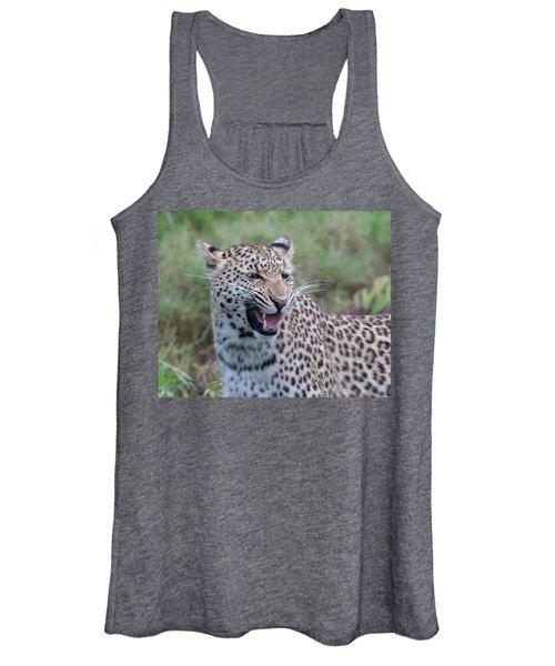 Grimacing Leopard Women's Tank Top