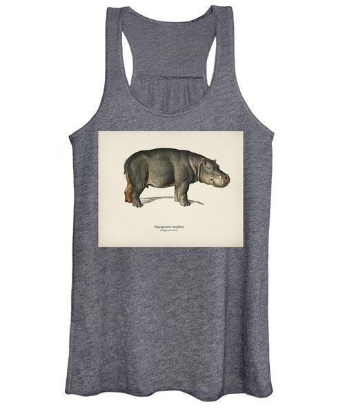 Hippopotamus  Hippopotame Amphibie Illustrated By Charles Dessalines D' Orbigny  1806-1876  Women's Tank Top