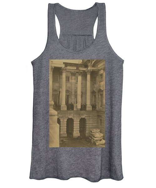 Hoisting Final Marble Column At United States Capitol Women's Tank Top