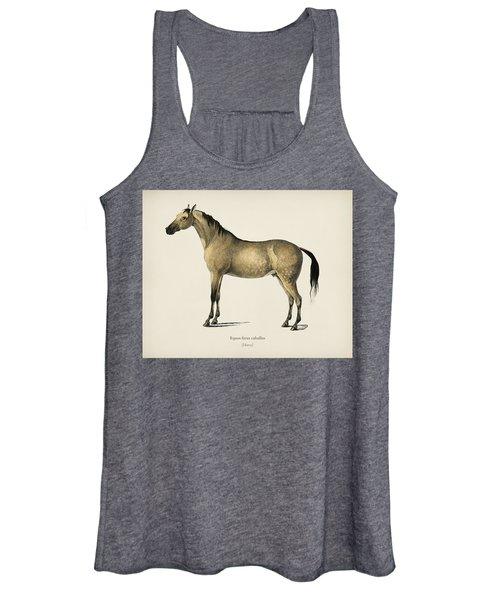 Horse  Equus Ferus Caballus  Illustrated By Charles Dessalines D' Orbigny  1806-1876  Women's Tank Top
