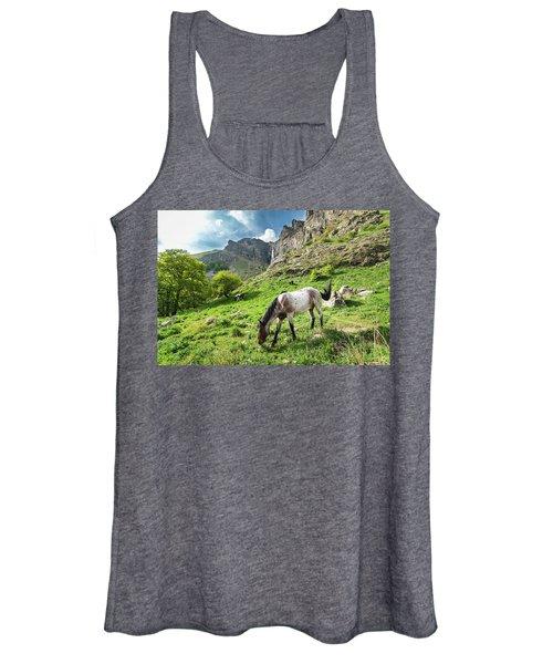 Horse On Balkan Mountain Women's Tank Top