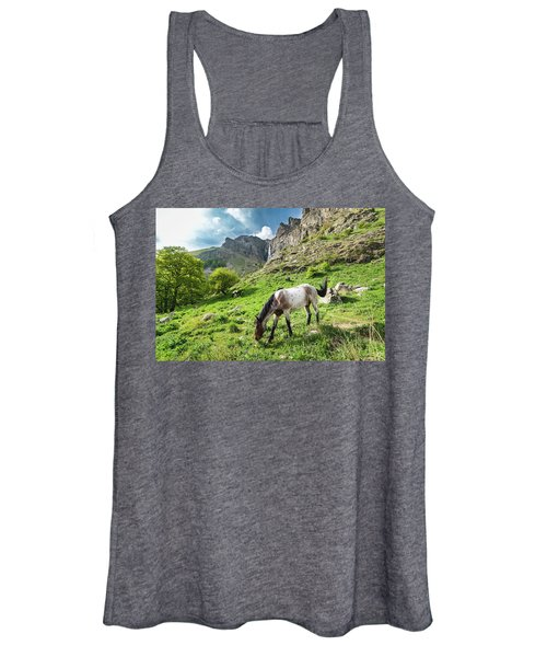Horse On Balkan Mountain Women's Tank Top