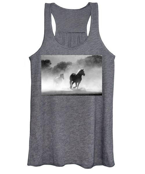 Horses On The Run Women's Tank Top