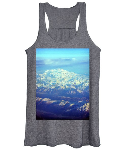 Ice Covered Mountain Top Women's Tank Top