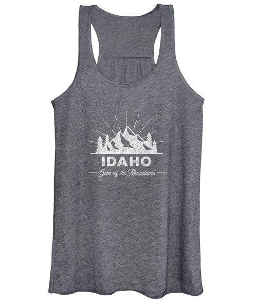 Idaho T Shirt Vintage Hiking Retro Tee Design Women's Tank Top