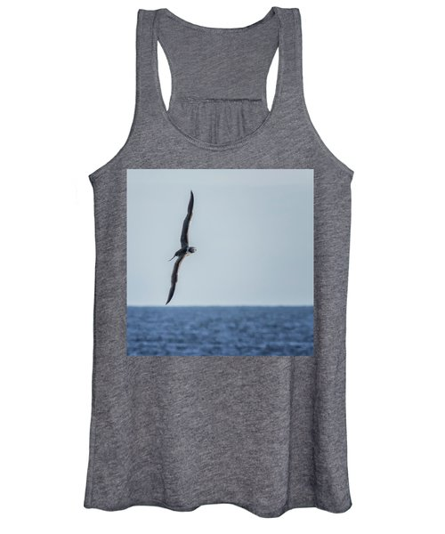 Immature Masked Booby, No. 5 Sq Women's Tank Top