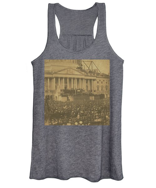 Inauguration Of Abraham Lincoln, March 4, 1861 Women's Tank Top