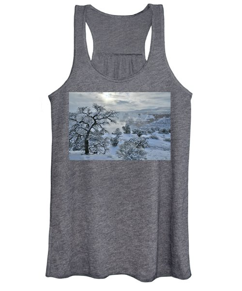 Independence Canyon At Sunrise In Colorado National Monument Women's Tank Top