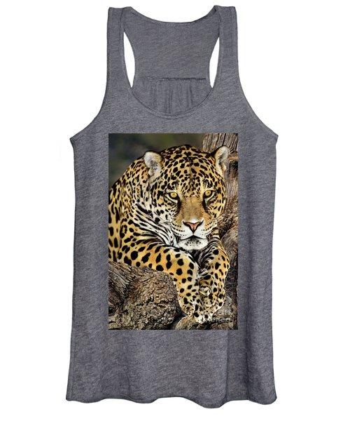 Jaguar Portrait Wildlife Rescue Women's Tank Top