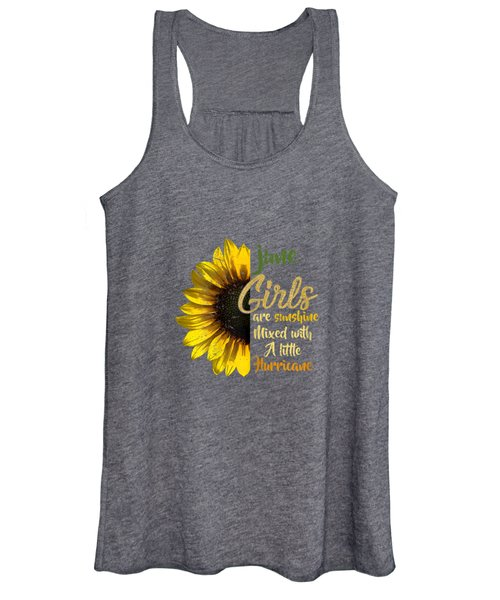 June Girls Are Sunshine Mixed Little Hurricane T-shirt Women's Tank Top