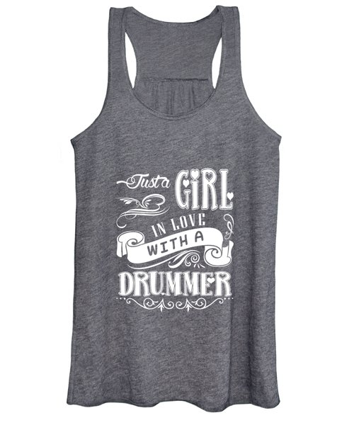 Just A Girl In Love With A Drummer Women's Tank Top