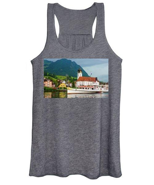 Lake Lucerne Steamer Women's Tank Top