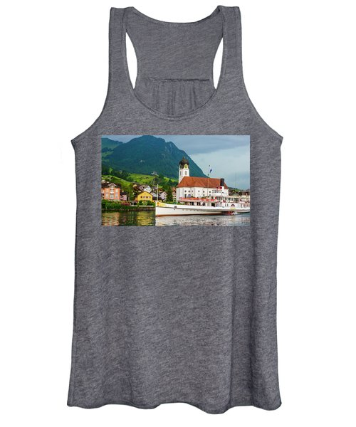 Lake Lucerne Steamer Women's Tank Top