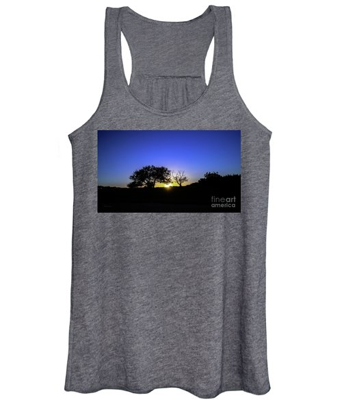 Last Light Texas Hill Country Paradise Canyon Sunset 8053a Women's Tank Top