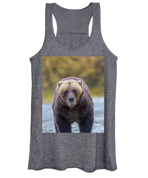Lazy C Angry Bear  Women's Tank Top