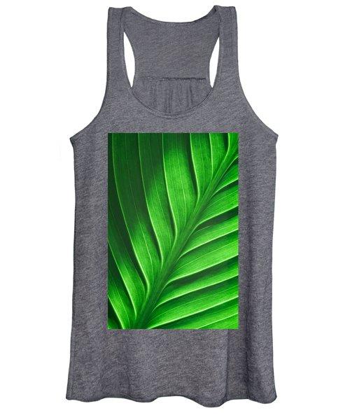 Leaf Pattern Women's Tank Top