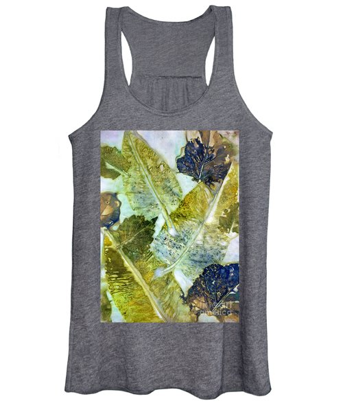 Leaves Of Nature Eco Dyed Print Women's Tank Top