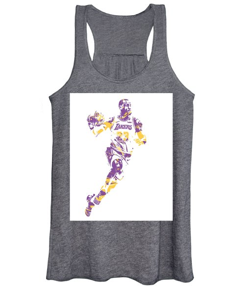 Lebron James Los Angeles Lakers Pixel Art 2 Women's Tank Top