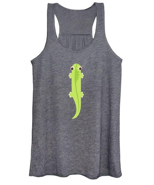 Letter I - Animal Alphabet - Iguana Monogram Women's Tank Top