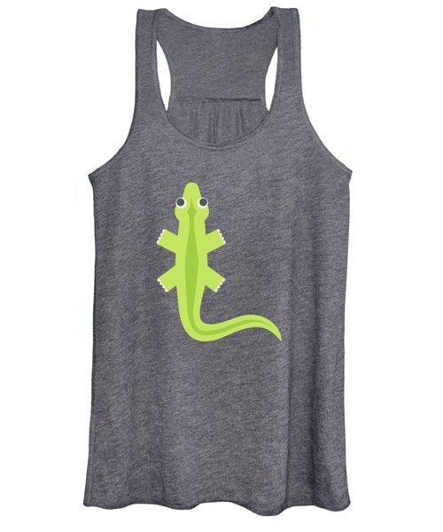 Letter L - Animal Alphabet - Lizard Monogram Women's Tank Top