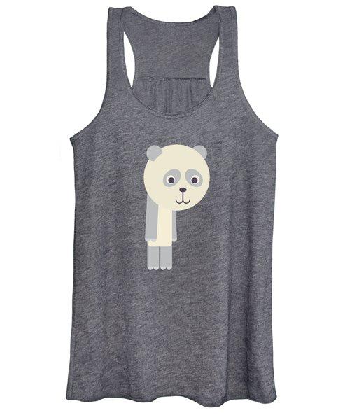 Letter P - Animal Alphabet - Panda Monogram Women's Tank Top