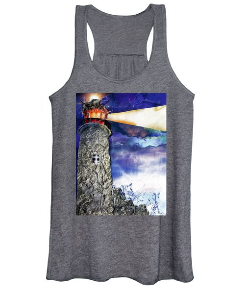 Light Of The World Torn Paper Collage Women's Tank Top