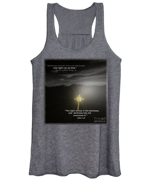 Light Shines In The Darkness Women's Tank Top