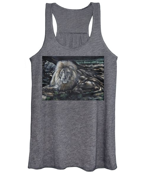 Lion In Dappled Shade Women's Tank Top