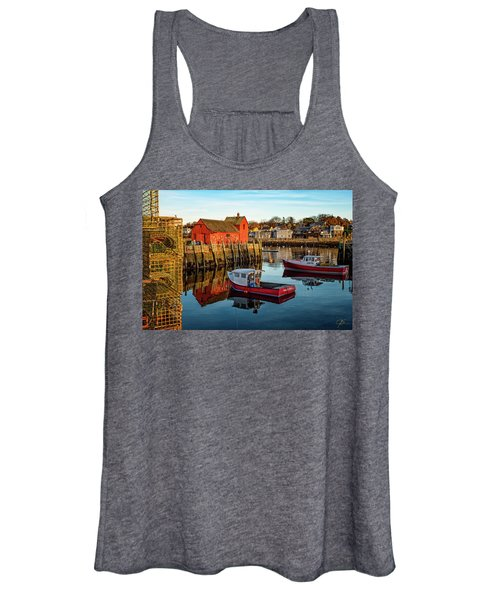 Lobster Traps, Lobster Boats, And Motif #1 Women's Tank Top