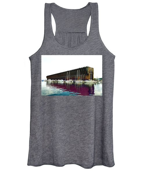 Lower Harbor Ore Dock At Marquette Michigan. Women's Tank Top