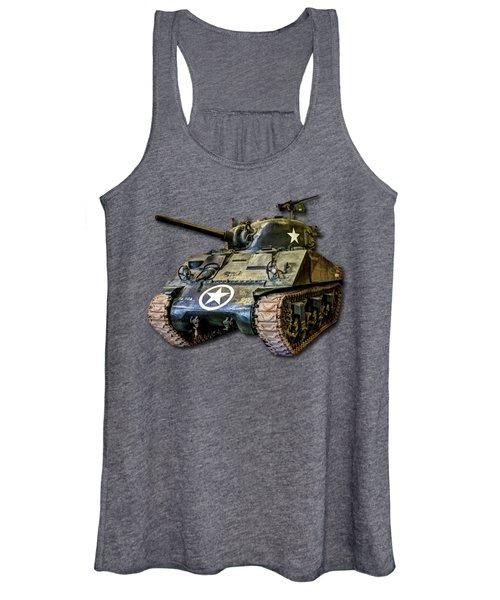 M4 Sherman Map Women's Tank Top