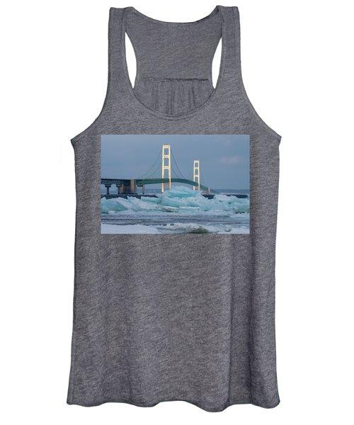 Mackinac Bridge In Ice 2161809 Women's Tank Top