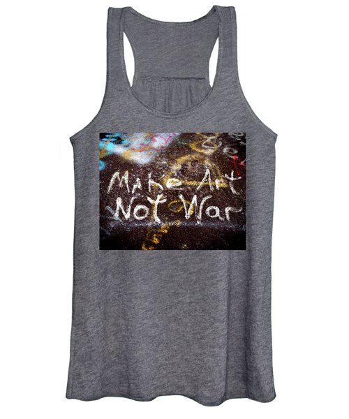 Make Art Not War Women's Tank Top