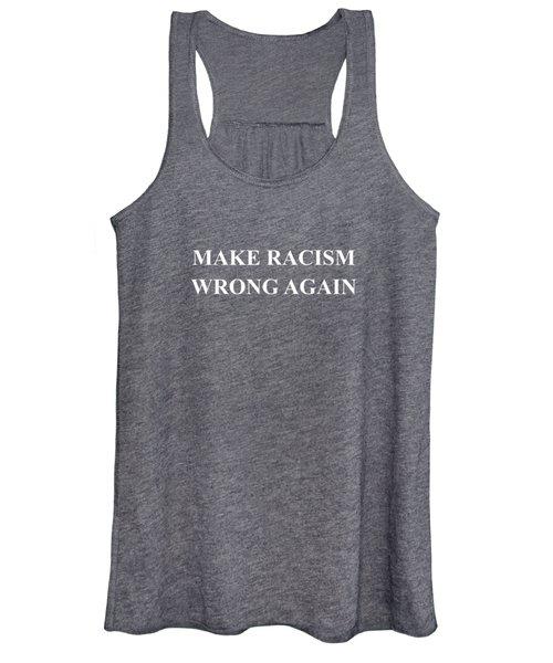 Make Racism Wrong Again Anti-hate 86 45 Resist Message Shirt Women's Tank Top