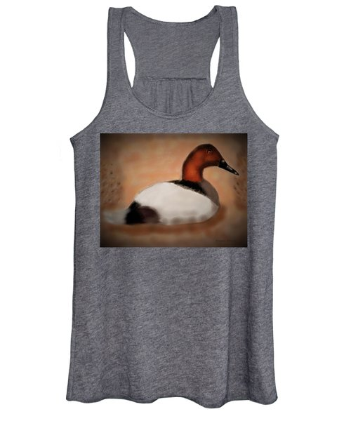Male Canvasback At Dawn Women's Tank Top