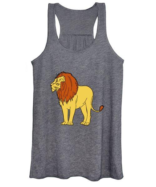 Male Lion Women's Tank Top