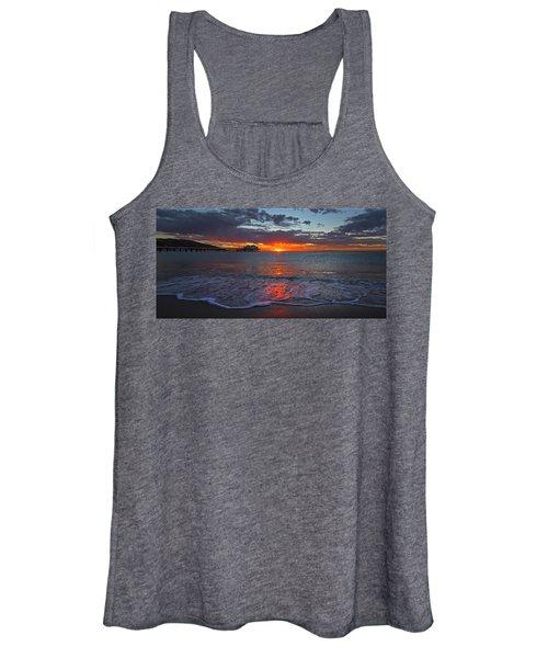 Malibu Pier Sunrise Women's Tank Top