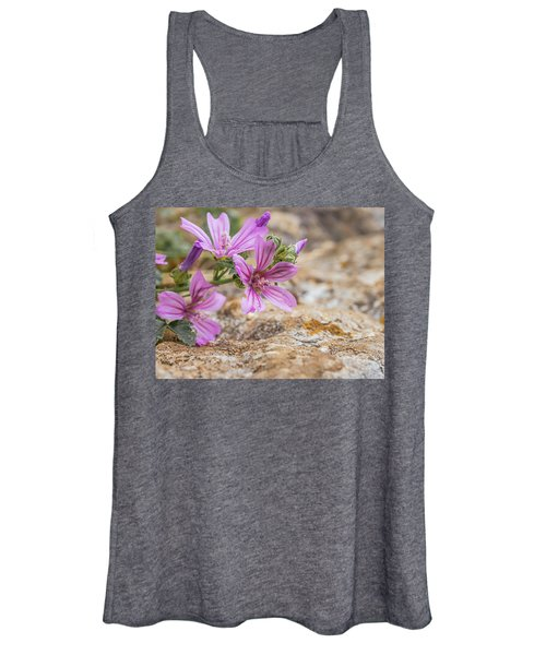 Malva Sylvestris - Spontaneous Flower Of The Tuscan Mountains Women's Tank Top
