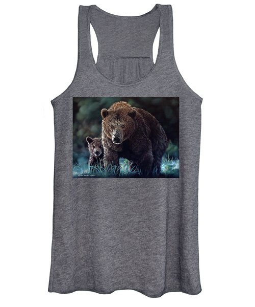 Mama Brown With Cubs Women's Tank Top