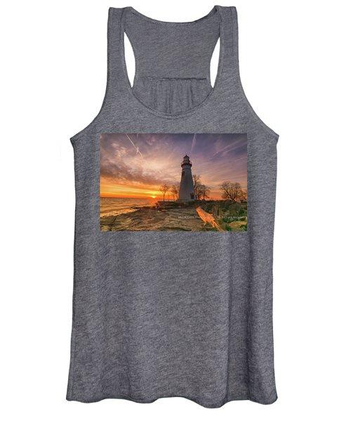 Marblehead Lighthouse Sunrise  Women's Tank Top