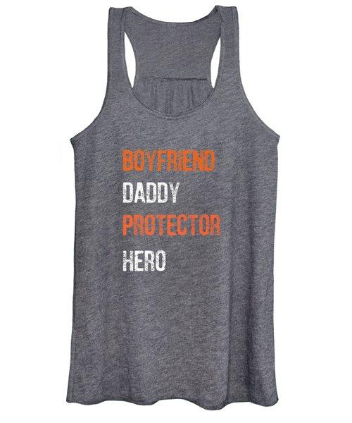 Mens Fathers Day Gift Boyfriend Daddy Hero Shirt From Girlfriend Women's Tank Top