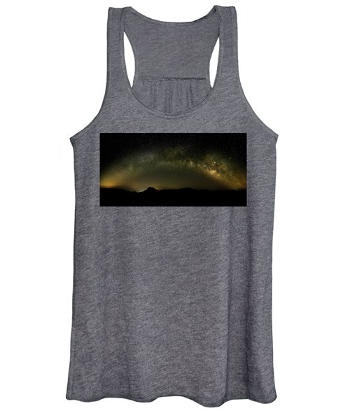Milky Way Arch Panorama Over Tianping Mountain And Ridge-line Women's Tank Top
