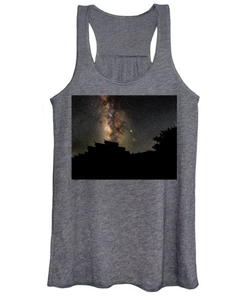Milky Way Over The Dark Temple Women's Tank Top