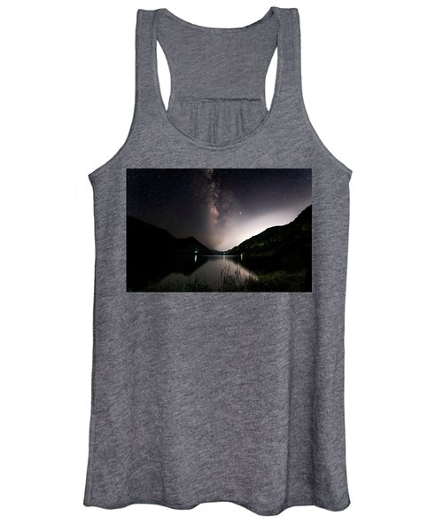 Milky Way Over The Ou River Near Longquan In China Women's Tank Top